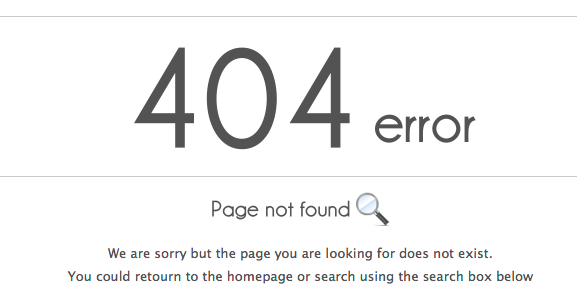 free 404 page